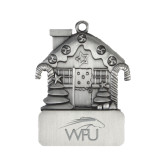 Pewter House Ornament-WPU Primary Mark Engraved