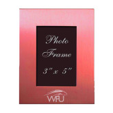 Pink Brushed Aluminum 3 x 5 Photo Frame-WPU Primary Mark Engraved