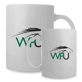 Full Color White Mug 15oz-WPU Primary Mark