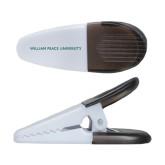 White Crocodile Clip/Magnet-William Peace University