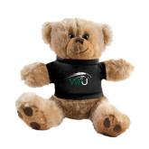 Plush Big Paw 8 1/2 inch Brown Bear w/Black Shirt-WPU Primary Mark