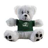 Plush Big Paw 8 1/2 inch White Bear w/Dark Green Shirt-WPU Primary Mark
