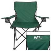 Deluxe Green Captains Chair-WPU William Peace University