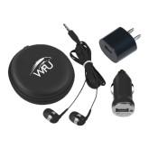 3 in 1 Black Audio Travel Kit-WPU Primary Mark