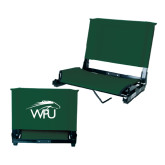 Stadium Chair Dark Green-WPU Primary Mark