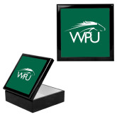 Ebony Black Accessory Box With 6 x 6 Tile-WPU Primary Mark