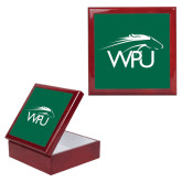 Red Mahogany Accessory Box With 6 x 6 Tile-WPU Primary Mark