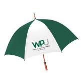 62 Inch Forest Green/White Umbrella-WPU William Peace University