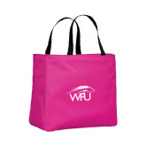 Tropical Pink Essential Tote-WPU Primary Mark