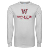 White Long Sleeve T Shirt-Worcester Academy