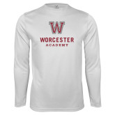 Performance White Longsleeve Shirt-Worcester Academy