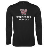 Performance Black Longsleeve Shirt-Worcester Academy
