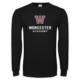 Black Long Sleeve T Shirt-Worcester Academy