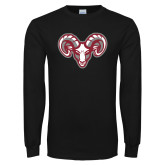 Black Long Sleeve T Shirt-Ram Head
