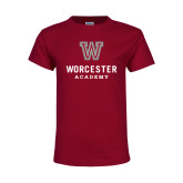Youth Maroon T Shirt-Worcester Academy