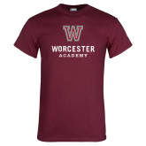 Maroon T Shirt-Worcester Academy Distressed