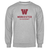 Grey Fleece Crew-Worcester Academy