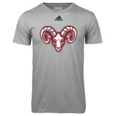 Adidas Climalite Sport Grey Ultimate Performance Tee-Ram Head