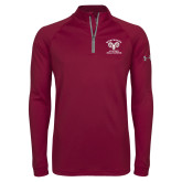 Under Armour Maroon Tech 1/4 Zip Performance Shirt-Primary Mark