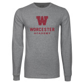 Grey Long Sleeve T Shirt-Worcester Academy