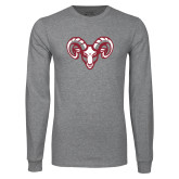 Grey Long Sleeve T Shirt-Ram Head