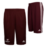 Adidas Climalite Maroon Practice Short-Worcester Academy