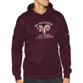 Adidas Maroon Team Issue Hoodie-Primary Mark