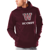 Under Armour Maroon Armour Fleece Hoodie-Hockey
