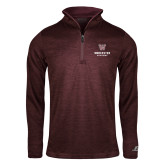 Russell Maroon Heather 1/4 Zip-Worcester Academy