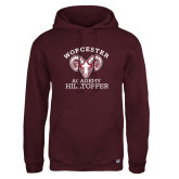 Russell DriPower Maroon Fleece Hoodie-Primary Mark