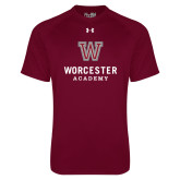 Under Armour Maroon Tech Tee-Worcester Academy