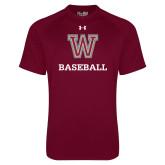 Under Armour Maroon Tech Tee-Baseball