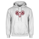 White Fleece Hoodie-Ram Head