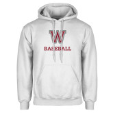 White Fleece Hoodie-Baseball