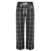 Black/Grey Flannel Pajama Pant-Worcester Academy