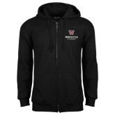 Black Fleece Full Zip Hoodie-Worcester Academy
