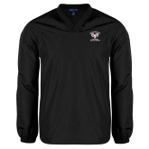 V Neck Black Raglan Windshirt-Primary Mark