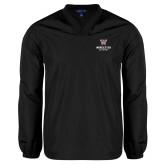 V Neck Black Raglan Windshirt-Worcester Academy