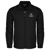 Full Zip Black Wind Jacket-Worcester Academy