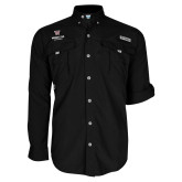Columbia Bahama II Black Long Sleeve Shirt-Worcester Academy