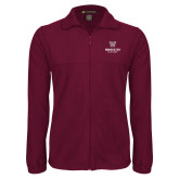 Fleece Full Zip Maroon Jacket-Worcester Academy
