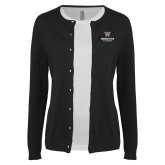 Ladies Black Cardigan-Worcester Academy