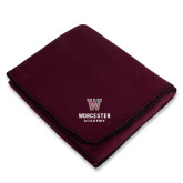 Maroon Arctic Fleece Blanket-Worcester Academy
