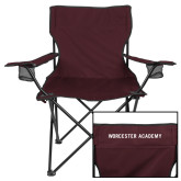 Deluxe Maroon Captains Chair-Worcester Academy