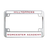 Metal Motorcycle License Plate Frame in Chrome-Hilltoppers