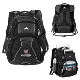 High Sierra Swerve Black Compu Backpack-Worcester Academy
