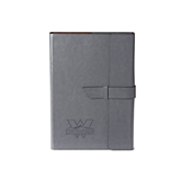 Fabrizio Junior Grey Portfolio w/Loop Closure-Interlocking W Mountaineers - Official Logo Engrave