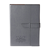 Fabrizio Grey Portfolio w/Loop Closure-Interlocking W Mountaineers - Official Logo Engrave