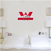 2 ft x 4 ft Fan WallSkinz-Interlocking W Mountaineers - Official Logo