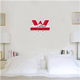 1.5 ft x 3 ft Fan WallSkinz-Interlocking W Mountaineers - Official Logo